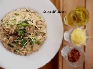 Mushroom and Broccoli Rissoto