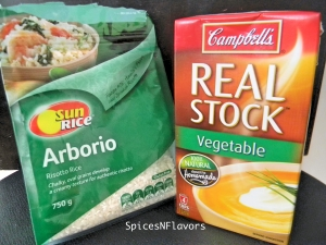 arborio rice and vegetable stock