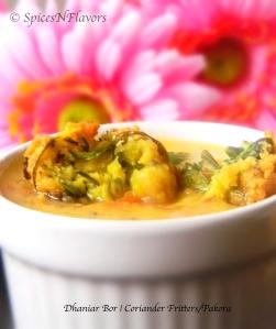 dhaniar bor-coriander-fritters-pakora