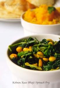 kolmou-xaax-bhaji-spinach-fry
