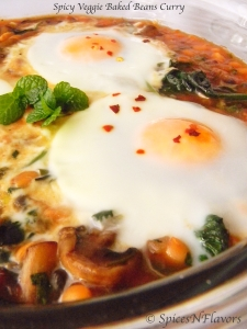spicy | baked beans | spinach | mushroom | egg | curry | spicesnflavors.com
